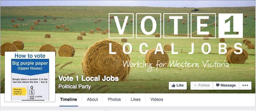 Vote 1 Local Jobs on Facebook - www.facebook.com/vote1localjobs/